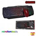 Conjunto Gaming Teclado Retroiluminado y Ratón Xtrike Me MK-501KIT