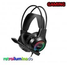 Cascos Auriculares Gaming con luz y micrófno PS4 Xtrike Me GH-709