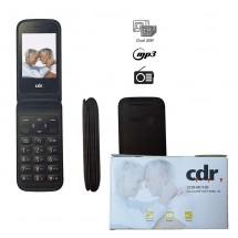 CDR MC106 3G Radio FM botón SOS con Tapa - NUEVO (2 años de garantía) Negro