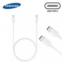 Cable Original Samsung Tipo-C a Tipo-C color blanco EP-DA705BWE