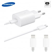 Cargador Super Rápido EP-TA800 ORIGINAL Samsung 25W 9V 3A Blanco con Cable