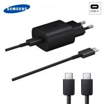 Cargador Super Rápido EP-TA800 ORIGINAL Samsung 25W 9V 3A Negro con Cable