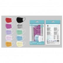 Mascarilla desechable 3 capas adulto caja de 10ud Colores variados