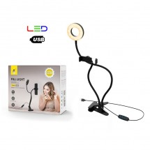 Lámpara de mesa flexible con soporte móviles Luz LED bofón multifunción OP-NR9104