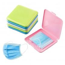 Caja bolsillo almacenamiento higiénico anti-polvo para mascarillas