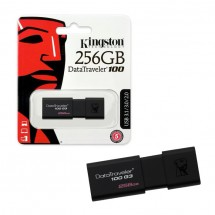 PenDrive Kingston DataTraveler 100 G3 de 256Gb USB 3.1 130Mb/s
