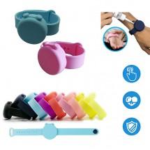 Pack. 10ud. Pulsera silicona Gel hidroalcohólico desinfectante manos niños y adultos