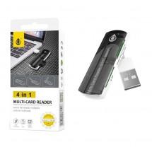Lector de tarjetas USB 4 en 1 MicroSD SD TF MS - OP-M3098