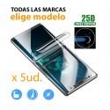 Pack 5ud. protector pantalla completa Hidrogel para móviles - elige marca y modelo