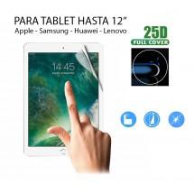 "Protector pantalla Hidrogel tablet hasta 12"" Samsung Apple Huawei Lenovo"