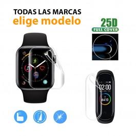 Pack 6ud. Protector pantalla completa Hidrogel Smartwatch y Pulseras - elige marca y modelo