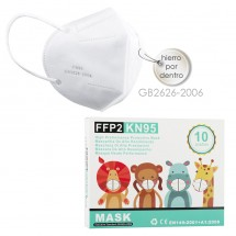 Mascarilla alto rendimiento FFP2 KN95 Niños caja de 10ud ref. GB2626-2006
