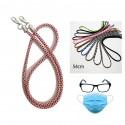 Cordón para cuello de sujeción para mascarilla y gafas varios colores