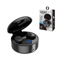 Auriculares Bluetooth TWS C021 con estuche carga inalámbrica Negro