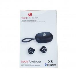 Auriculares Bluetooth Beats X8 con estuche carga inalámbrica Negro