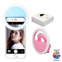 Aro Luz LED anillo Selfie para móvil tablet portátil monitor USB recargable