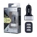 Cargador mechero coche con 3 salidas USB 3.4A para móviles - OPK3623