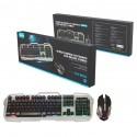 Conjunto Gaming Luz Led Teclado y Ratón dpi ajustable USB español OP-GT810