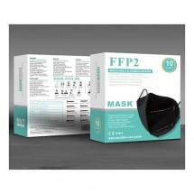 Mascarilla alto rendimiento FFP2 KN95 Adultos NEGRA caja de 10ud - ref. MV