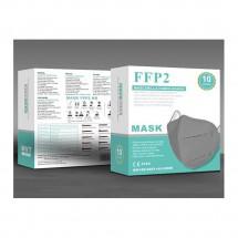 Mascarilla alto rendimiento FFP2 KN95 Adultos GRIS caja de 10ud - ref. MV