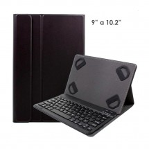 "Funda con teclado bluetooth para tablet de 9"" a 10.2"" color negro - NW"