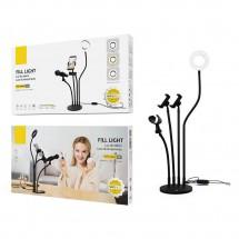 Lámpara de mesa flexible con soporte móviles Luz LED botón multifunción OP-NR9104