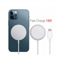 Cargador inalámbrico 15W para iPhone y móviles Wireless Fast Charger - RD-FSD1570
