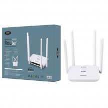 Router Inalámbrico Wifi b/g/n 4 antenas Wireless-N 300Mbps 4 puertos HV-RT635