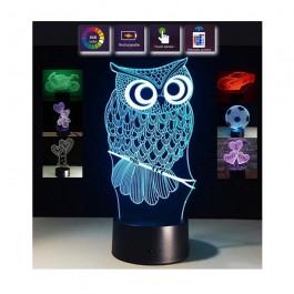 Lámpara proyector holograma 3D colores mando distancia