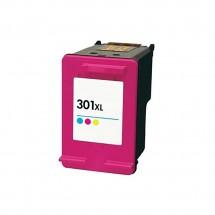 Cartucho Tinta compatible HP 301XL Tricolor para impresoras HP