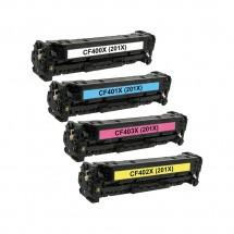 Toner compatible HP 201X CF400X/401X/402X/403X/404X para impresoras HP