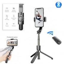 Palo Selfie Trípode L08 para móviles con estabilizador