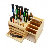 Organizador de madera multifuncional herramientas reparación 21*14*10cm