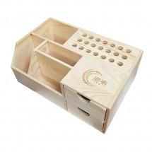 Organizador de madera multifuncional herramientas reparación 24*15*10cm