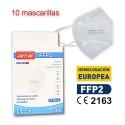 Mascarilla alto rendimiento FFP2 Certificada CE 2163 Adultos caja de 10ud JunYue