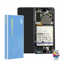 Pantalla completa Original Service Pack con marco Samsung Galaxy S21 5G G991F