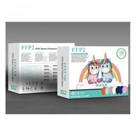 Mascarilla alto rendimiento FFP2 KN95 niños 10ud - Colores variados