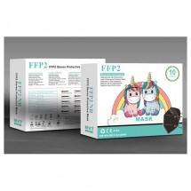 Mascarilla alto rendimiento FFP2 KN95 niños 10ud - Color negro
