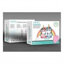 Mascarilla alto rendimiento FFP2 KN95 niños 10ud - Color rosa