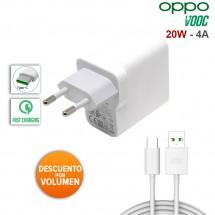 Cargador Original 20W carga rápida 4A Oppo VOOC más Cable Tipo C
