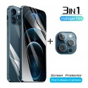 Pack 3 en 1 Protector Hidrogel Pantalla - Tapa - Cámara para iPhone