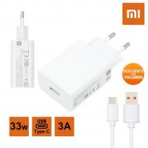 Cargador Original Xiaomi MDY-11-EZ Super Rápido 33W 3A más cable Tipo-C