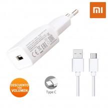 Cargador Original Xiaomi MDY-08-EI Carga Rápida 18W 2.5A más cable Tipo-C
