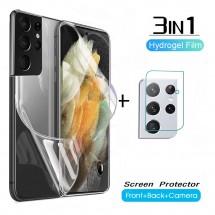 Pack 3 en 1 Protector Hidrogel Pantalla - Tapa - Cámara Samsung S10 S20 S21 Note