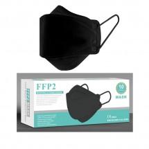 Mascarilla forma Pez alto rendimiento FFP2 Adulto 10ud - Color negro