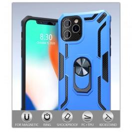 Funda Armor Rígida antigolpes colores soporte anillo magnético para iPhone
