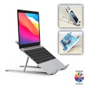"Soporte plegable y ligero aluminio para portátil móvil tablet hasta 15.6"""
