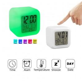 Reloj Despertador Digital multifuncional luminoso RGB temperatura