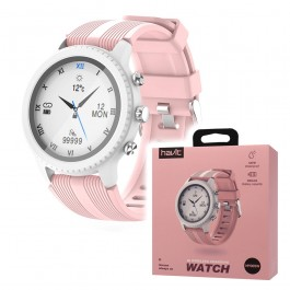 Reloj inteligente Smartwatch carga inalámbrica QI sumergible 5ATM - HV-M9005W Rosa