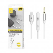 Adaptador iPhone Lightning OTG Jack audio con control de volumen